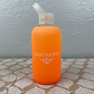 BKR Water Bottle 16oz Glass Silicone Ombre Docker